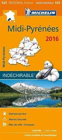 Pyrenees Michelin - Carte Midi-Pyrénées 2016
