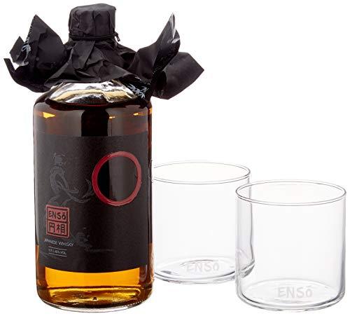 Ensō - japanischer Whisky - Whiskey Set inklusive Whisky - Gläser und Untersetzer