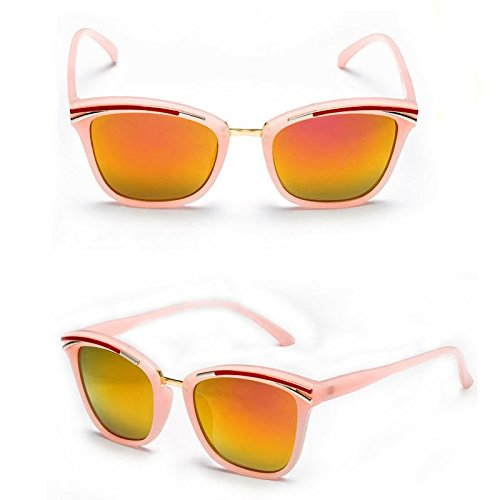 Sunyan Kinder Sonnenbrillen junge Mädchen Schutz gegen UV-Brille version Baby big frame Sonnenbrille Kind Gläser, Jelly orange Scheiben