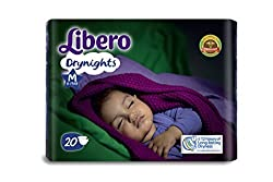Libero Drynights Medium Size Diaper (20 counts)