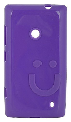 iCandy™ Imported Quality Soft TPU Smiley Back Cover For Nokia Lumia 520 / Lumia 525 - Purple  available at amazon for Rs.180