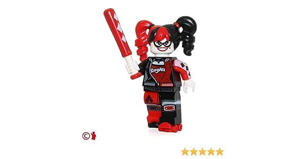 Harley Quinn NEW LEGO 70906 LEGO Batman Movie Minifigure Pigtails /& Bat