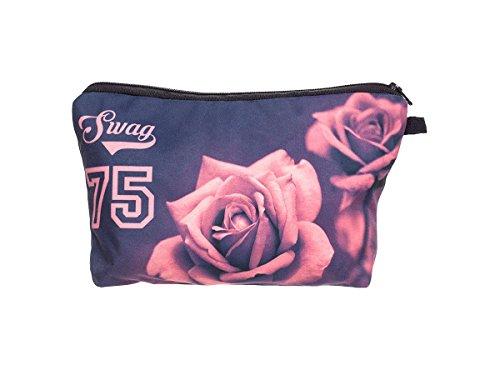 Beauty Case, borsa da viaggio, borsetta da toilette sacco sacchetto bagno per cosmetici trucco make up motivi diversi, Kosmetiktasche KT-002-050:KT-009 Swag rosa