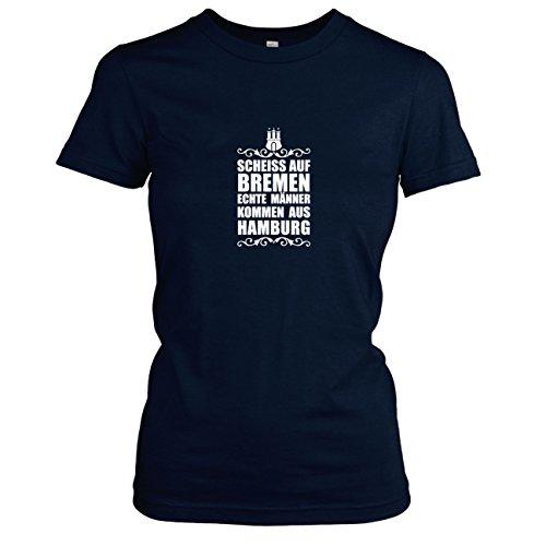 TEXLAB - Scheiss auf Bremen - Damen T-Shirt, Größe XL, dunkelblau