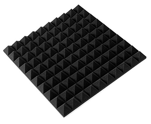 "Aurica Pyramid Shaped Acoustical Foam Panel 2' x 2' x 2"" (Single)"