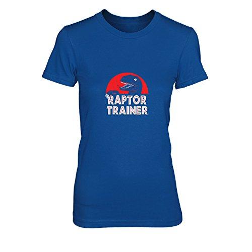 Raptor Trainer - Damen T-Shirt, Größe: XL, Farbe: blau