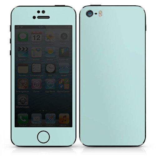 Apple iPhone 3Gs Case Skin Sticker aus Vinyl-Folie Aufkleber Aquamarin blass Blau Grün lich DesignSkins® glänzend