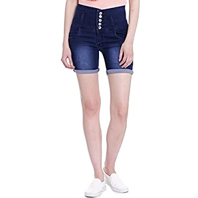 Broadstar Women Denim Blue Short