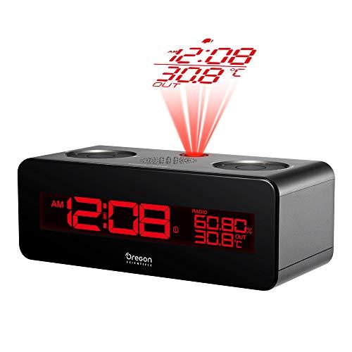 Oregon RRA-320-PNX - Radio reloj proyector, negro