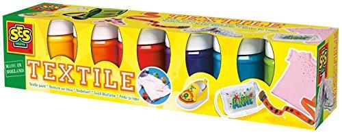 SES creative 00331 - Textilfarben Trendy 6 Farben je 45 ml Test