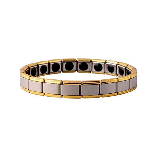WFFF Edelstahl magnetisch Armband Arthritis und Carpal Pain Relief Magnetic Therapy Bracelets für Männer und Frauen -
