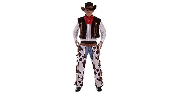 Fancy Me Costume da Uomo Wild West Cowboy 4 Teilig Cowboy
