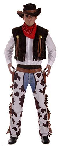 Wild West Erwachsene Kostüm Für Sheriff - Fancy Me 4 Stück Herren Wild West Cowboy Sheriff Kostüm Kleid Outfit STD & XL - Braun, X-Large