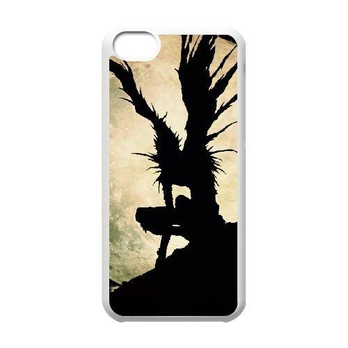 Death Note coque iPhone 5C Housse Blanc téléphone portable couverture de cas coque EBDXJKNBO11595