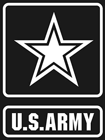 Aufkleber U.S. ARMY STAR Logo white window or bumper sticker