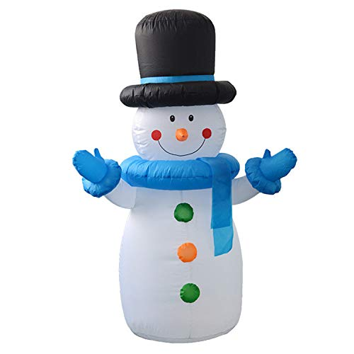 LOVEPET 1,2 M Schneemann Aufblasbare Licht Modell Weihnachtsdekoration Requisiten Weihnachten Aufblasbarer Bogen Hof Mall Hotel Türen Atmosphäre Dekoration (Aufblasbar Weihnachten Hof Dekorationen)