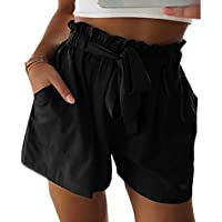 Yying Pantalones Cortos Calientes De La Cintura Alta De La Cintura De La Cintura De La Correa De Cintura Alta De Los Hombres