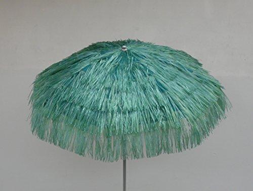 Maffei art 6 kenia, ombrellone rotondo diametro cm 200, ricoperto con rafia, colore verde