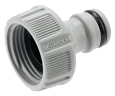"""GARDENA Hahnverbinder 26.5 mm (G 3/4""""): Anschluss für Wasserhähne mit Gewinde, wasserdichte Schlauchverbindung, einfache Handhabung (18201-50)"""