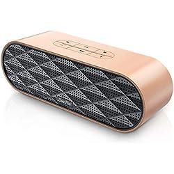 ZoeeTree S3 Enceinte Bluetooth Portable, Bluetooth 4.2 EDR, avec Son 360°, 10W Haut Parleur Stéréo avec Audio Haute Définition et Basse Améliorée, Mains Libres Appel TF Carte Slot