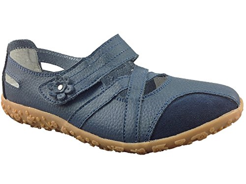 Ladies Julietta Cushion Walk Lifestyle Leather Moccasin Loafer Velcro Boat Deck Shoes...