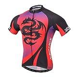 YOUJIA Radsport-Trikots Shirts Top für Herren, Kurzarm Fahrrad Trikot für Sport Freizeit