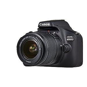 """Canon EOS 4000D - Kit cámara réflex de 18 MP (APS-C, 9 pts AF, Full HD, LCD 2.7"""", WiFi/EF/EF-S) negro + EF-S 18-55mm III [enchufe británico]"""