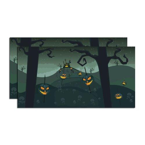 ung56 Zubehör für Dörfer, Halloween, gruselige Kürbiss, 50,8 cm, 2 Stück ()