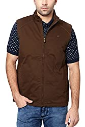 Peter England Mens Regular Fit Outerwear_ JJK51506792_M_ Brown
