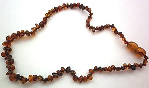 Zarte Ambre Chaîne env. 32–35cm 100% ambre naturel nr15Marron