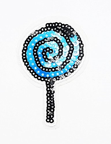 rabana blau colorful Lollipop Candy Cartoon Kids Kinder Cute Animal Patch für Heimwerker-Applikation Eisen auf Patch T Shirt Patch Sew Iron on gesticktes Badge Schild Kostüm