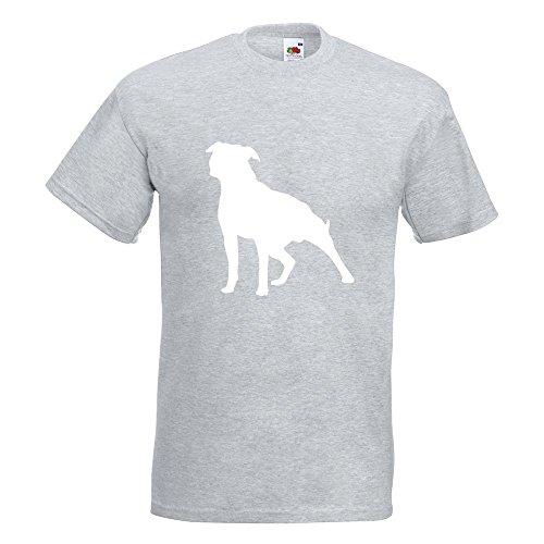 KIWISTAR - American Stafford Hunderasse T-Shirt in 15 verschiedenen Farben - Herren Funshirt bedruckt Design Sprüche Spruch Motive Oberteil Baumwolle Print Größe S M L XL XXL Graumeliert