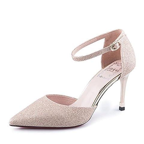 automne,pointes,chaussures femme/talons minces,asakuchi,chaussures nue-B Longueur du pied=23.3CM(9.2Inch)