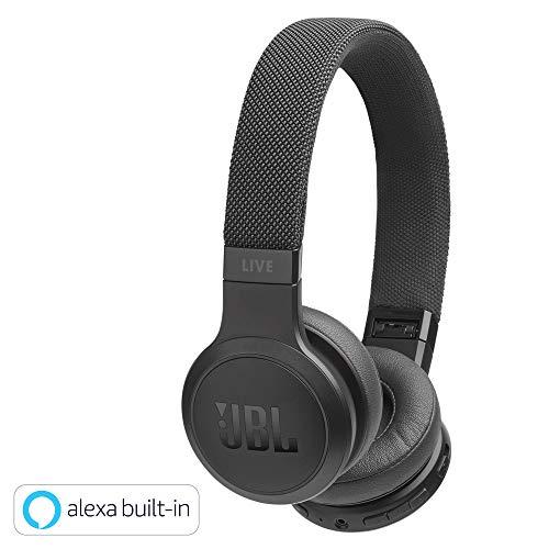 JBL Live 400BT On-Ear Kopfhörer (kabellose, Bluetooth Ohrhörer mit bis zu 24 Stunden Laufzeit und Sprachassistent, Musik hören und telefonieren unterwegs) schwarz