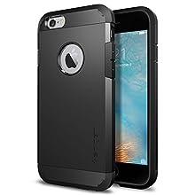 Spigen Tough Armor, Designed for iPhone 6, iPhone 6S Case - Black