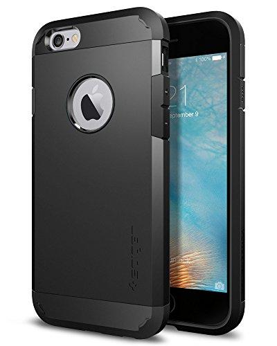 Cover iPhone 6, Spigen Cover iPhone 6S [Protezione Estrema] Tough Armor [Black] HEAVY DUTY Layer, Custodia Apple iPhone 6 / iPhone 6S (SGP11614)