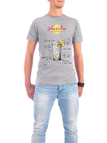 """Design T-Shirt Männer Continental Cotton """"Cocktail John Collins"""" - stylisches Shirt Essen & Trinken von Arman Akopyan Grau"""