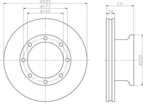 Preisvergleich Produktbild Textar 93102300 Bremsscheibe