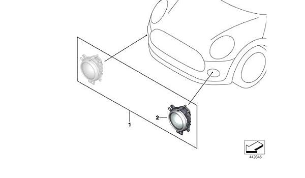 MINI Genuine Set of 2 LED Daytime Running Fog Lights Driving Lamps 63122361243