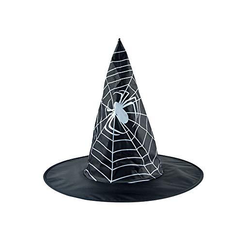 VRTUR Damen Halloween MüTze,Erwachsene Damen Herren Hexe Hut Zum Kostüm Zubehörteil Flaum Solide Deckel Hexenhut