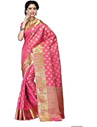 Mimosa Women's Tassar Silk Saree With Blouse Piece (179-Gajj,Gajjari,Free Size)