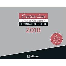 Bastelkalender Tischaufsteller quer 2018 - Creative Line, Kreativ, Kalender  -  16 x 20 cm