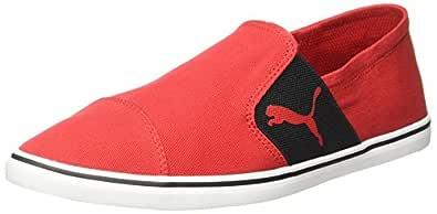 Puma Men's Elsu V2 Slip On High Risk Red-Black Sneakers - 4 UK/India (37 EU) (36639201)
