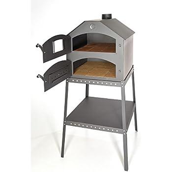 anself holzbackofen pizzaofen aus stahl f r holz und holzkohle garten. Black Bedroom Furniture Sets. Home Design Ideas