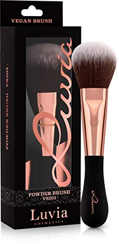 Luvia Cosmetics Puderpinsel Goss - Vegan Signature VS205 Powder Brush Schwarz/Rosegold