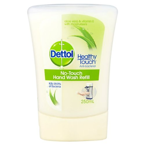 Dettol No Touch Recharge laver à la main à l'aloe vera & vitamine E 4 x 250 ml