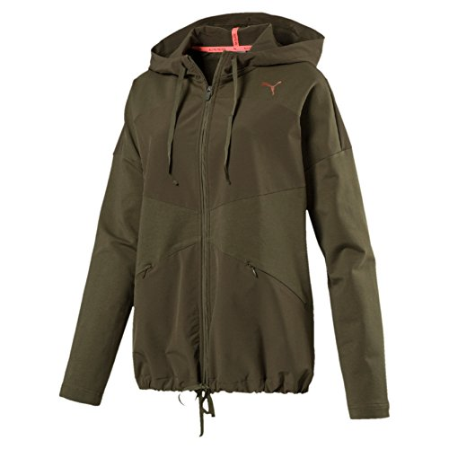 Puma Damen Transition Fz Jacket W Mantel olive night