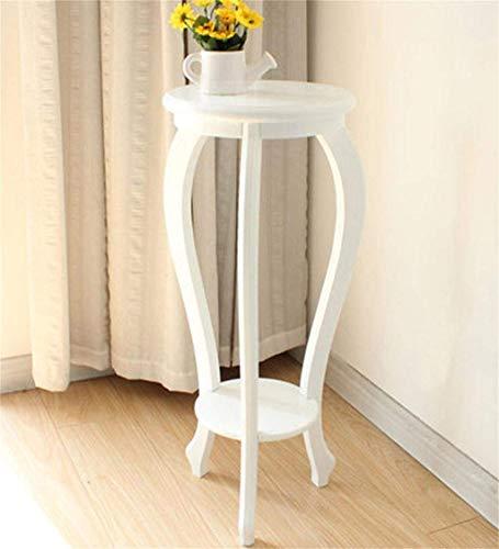 IU Desert Rose Étagère de balcon Support de fleur cadre en bois pastorale pot de fleur étagère salon balcon solide bois étagères de fleurs blanc multi - couche fleur pot Rack (couleur: b, taille: 84cm