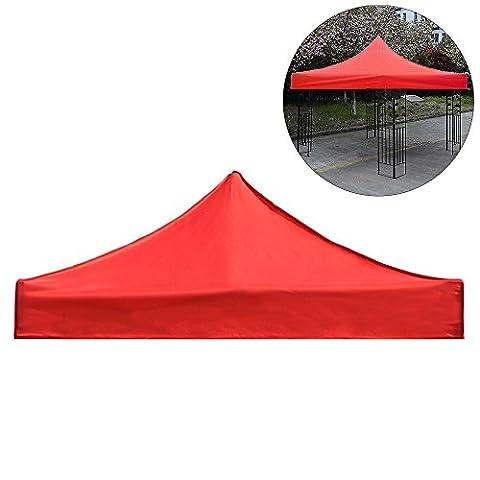 Garden Gazebo Top Cover 3x3m Waterproof Fabric Patio Sun Sail Shade Tent Canopy Roof Replacement