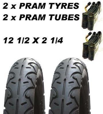 Preisvergleich Produktbild 2 X Kinderwagen Räder & 2 X Rohr 12 1/2 X 5.7cm Phil & Teds Explorer Classic Sport E3